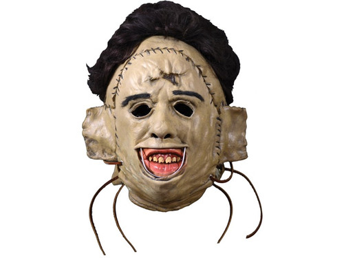 Leatherface 1974 Killing Mask. Trick or Treat Studios and Radar Licensing are proud to present this officially licensed Texas Chainsaw Massacre mask. Sculpted by Connor Deless, this mask is based on the primary scene of Leatherface in the 1974 Horror Classic, The Texas Chainsaw Massacre. Every detail of Leatherface is captured in this amazing latex mask. So get yourself the official Leatherface 1974 Killing Mask and Sledgehammer then head out to terrorize your neighborhood this Halloween Night!  Texas Chainsaw Massacre © 2017 Radar Licensing. All rights reserved.