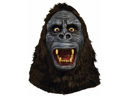 From one of the most iconic horror movies ever made, comes this incredible mask depicting King Kong in all his fury. Full, over-the-head latex mask. One size fits most adults.