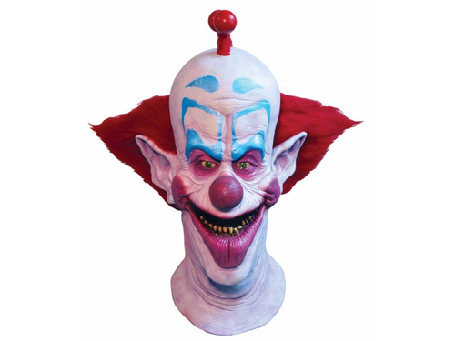 From the klassic kult horror movie Killer Klowns from Outer Space comes this great mask depicting the character Slim. This full, over-the-head latex mask has a great sculpt and is sure to scarify all of your friends! One size fits most adults.