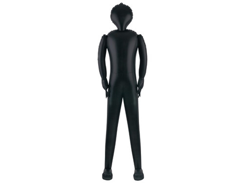 New 2017 - Inflatable Black Body Prop. Perfect for use in a body bag, coffin, or dressed up for a great prop! Full-size inflatable body measures approximately 72 inches long. Very easy to transport and inflate anywhere you need a life-sized figure. A versatile way to jazz up your next haunted scene!