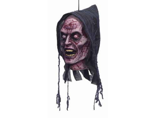 This Ghost Hanging Foam Head is perfect for your haunted house or home haunt.  This amazingly sculpted, impeccably detailed polyfoam head will scare the yell out of your victims! Ghost. 12x6x5 inches.