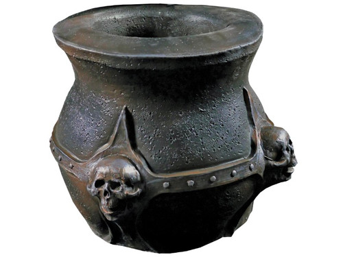 New 2017! What spells and potions can you conjure up with this high-quality witch's cauldron? This unique cauldron prop is 14 inches in diameter and made from foam-filled latex painted to look like a thick iron cauldron with molded decorative skulls on the outside. Cauldron can be both a classic Halloween decoration and container for candy! Boxed Dims: 16x16x16.