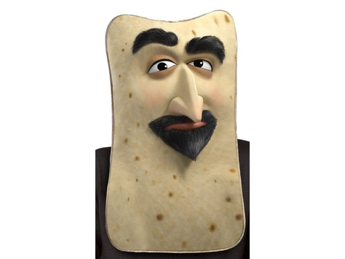 When you're looking for a mask of the Armenian flatbread from the popular movie Sausage Party, this is the place to come! One size fits most.  TM & (c) 2017 Columbia Pictures Industries, Inc. All Rights Reserved.