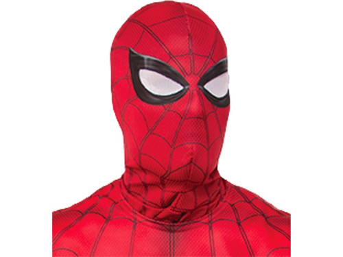 New 2017. Spiderman Fabric Mask. This Halloween put on a secret identity and become the protector of the innocent--just like a real superhero! This Spider-man overhead mask is red with spider web print and white mesh eyes outlined in black. Add to a Spider-man shirt or costume for the complete superhero look. Mask comes in child and adult sizes. 2017 Officially licensed Marvel product. One size fits most.  Lrg Adult  Sm Child