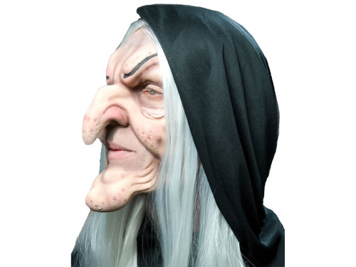 Hagatha The Old Hag Witch.  Soft, unpainted foam prosthetics, once glued onto your face, will move with each facial expression.  Talk, drink and eat with these super realistic creations.  Requires spirit gum, latex and makeup - sold separately with our other makeup accessories.