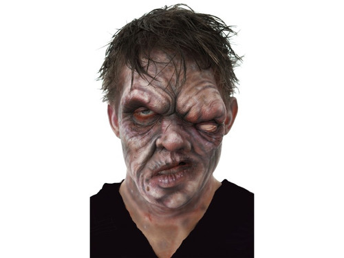 Apocalyptic Zombie. Soft, unpainted foam prosthetics, once glued onto your face, will move with each facial expression.  Talk, drink and eat with these super realistic creations.  Requires spirit gum, latex and makeup - sold separately with our other makeup accessories.