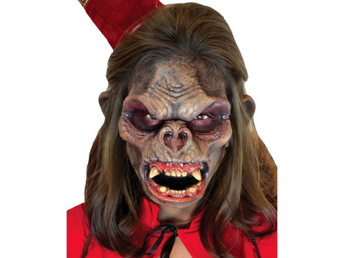 Monkey Monster. Soft, unpainted foam prosthetics, once glued onto your face, will move with each facial expression.  Talk, drink and eat with these super realistic creations.  Requires spirit gum, latex and makeup - sold separately with our other makeup accessories.