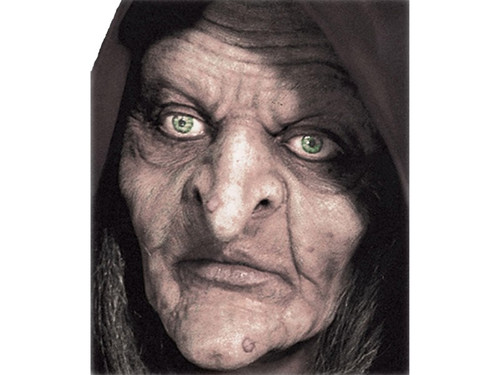 The Swamp Old Hag Witch. Soft, unpainted foam prosthetics, once glued onto your face, will move with each facial expression.  Talk, drink and eat with these super realistic creations.  Requires spirit gum, latex and makeup - sold separately with our other makeup accessories.