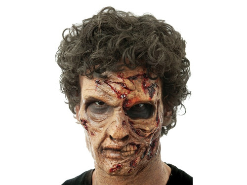 Exumed Dead Zombie. Soft, unpainted foam prosthetics, once glued onto your face, will move with each facial expression.  Talk, drink and eat with these super realistic creations.  Requires spirit gum, latex and makeup - sold separately with our other makeup accessories.