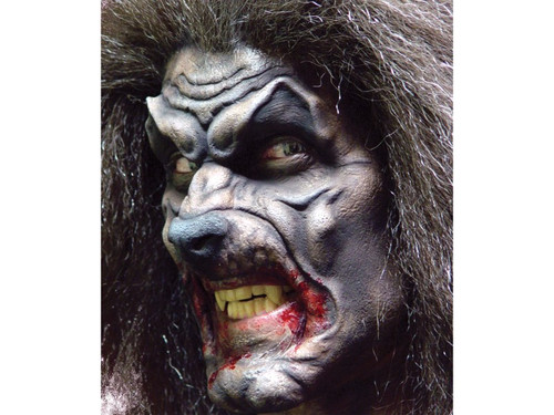 Big Bad Wolf Werewolf. Soft, unpainted foam prosthetics, once glued onto your face, will move with each facial expression.  Talk, drink and eat with these super realistic creations.  Requires spirit gum, latex and makeup - sold separately with our other makeup accessories.
