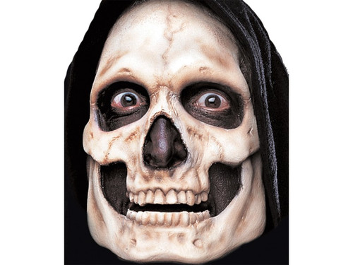 Skull Skeleton. Soft, unpainted foam prosthetics, once glued onto your face, will move with each facial expression.  Talk, drink and eat with these super realistic creations.  Requires spirit gum, latex and makeup - sold separately with our other makeup accessories.