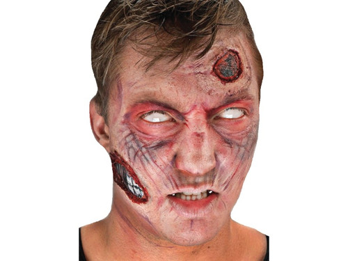 New for 2017.  Forward facing blister card containing Woochie peel and stick latex appliances, photorealistic tattoos and character appropriate makeup.    Choose:  Zombie  Monster  Steampunk   Faun