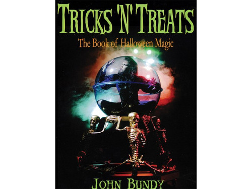 """Halloween is one of the busiest times of year for magicians. Magic is in the fall air, and magicians are in demand! """"Tricks 'N' Treats: The Book of Halloween Magic"""", is filled with advice and inspiration on how to create Halloween specific magic shows and guarantee a successful Halloween season. Written by John Bundy, this fabulous book is a must-have for magicians!"""