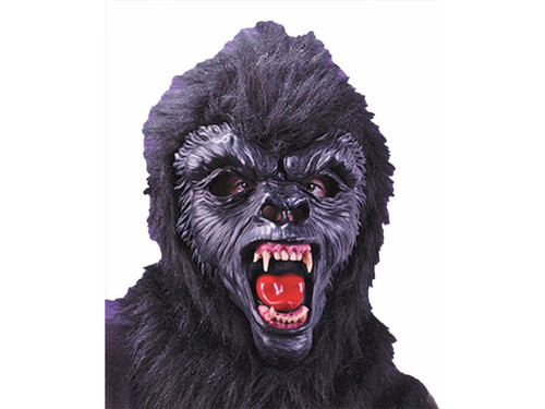 This mask is totally unique. Latex facial detailing with fur covered back and real acrylic dentures give the most frightening look possible.