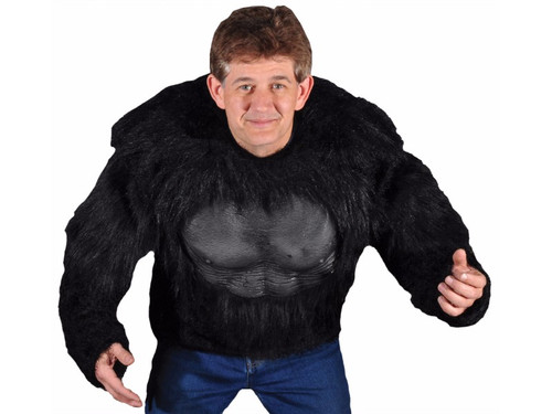 This light weight gorilla shirt provides an amazing look while being very easy to wear. Adult One size fits most. Nice addition to almost any gorilla mask.