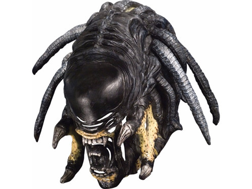 The combination of Alien and Predator! Full over the head Hybrid latex mask with separate dreadlocks attached. Individually hand painted for a true collectors, movie look.
