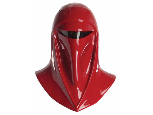 Become part of the imperial army with your Imperial Guard Helmet. Complete your Imperial Guard costume, with this officially licensed Star Wars Supreme Edition Imperial Guard Helmet! Collector quality! Signature red helmet, with tinted eye lens. Helmet is roughly 19 in. x 13 in. x 13 in. Beautifully detailed at every angle! When worn, mask sits comfortably on shoulders. Mask openings - none. Hard resin/fiber glass. Inside of helmet is black. Adult mask. Not intended for use in play by children under 14 years of age. Helmet is a costume accessory and is not durable enough to be used for protection.