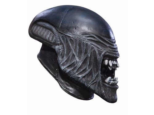 Become an alien creature with your new 2017 Child Alien Vinyl Mask! Your child can be the most famous Alien ever filmed. 3/4 vinyl mask with mouth agape and ready to attack.