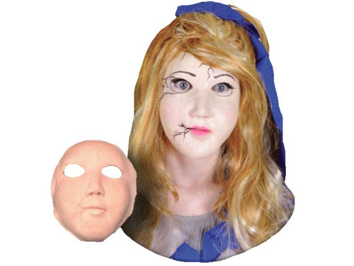 Soft, unpainted, doll face, foam prosthetics. Once glued onto your face will move with each facial expression. Talk, drink and eat with these super realistic creations. spirit gum, latex and makeup sold separately!