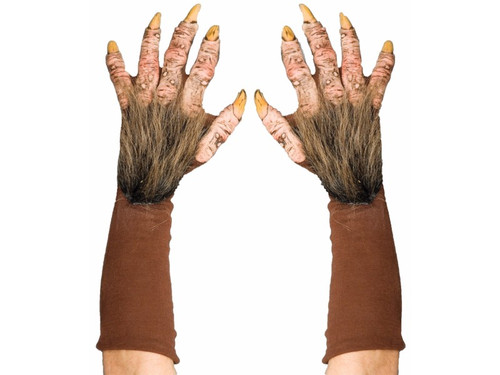 Cloth gloves with ghoulish latex outer covering that give a fantastic organic rotted look. One size fits most adults.