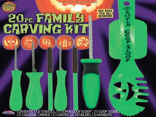 Deluxe set includes 12 pop-out stencils, 2 scoopers, 2 carvers, 2 detailers, and 2 markers.