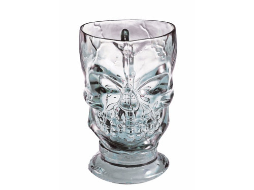 Startling plastic skull pitcher perfect for a spooktacular night of partying! Holds aprrox 32oz. Color may vary from smoky to clear. 8 inches tall, 4 inches wide.