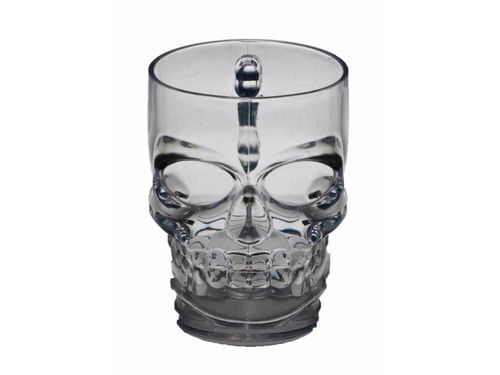Startling plastic skull mug perfect for a spooktacular night of partying! Holds approx. 12 oz. 5 x 5 inches. 14 inches around.