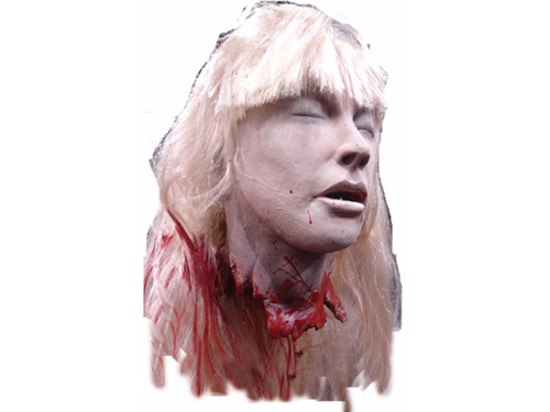 Debbie got it good! Terrifying cut off life size heads that are so realistic, they will make you squeamish just looking at them. Latex foam filled full size prop heads, individually hand painted to look as nightmarish as possible.
