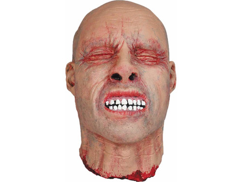 Ted has about all the torture he can take. Great for haunted scenes, this wonderfully sculpted cut-off head shows eyes shut and teeth bared as if in a painful grimace. Latex. 10 inches tall, 6 inches wide.