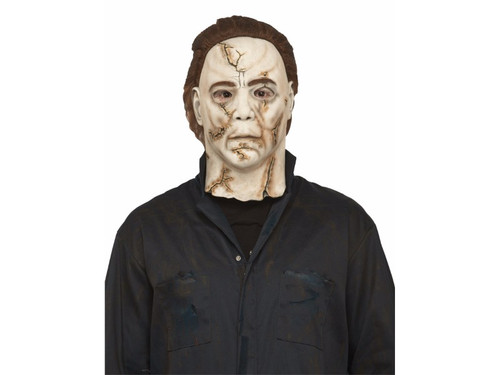 Rob Zombie's new Halloween movie has a new look for Michael Myers. Dirty, slashed and disgustingly realistic. Very similar to the one used in the movie.