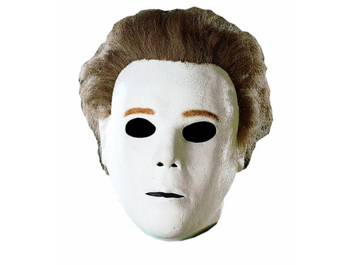 You want to look like the Shape Michael Myers and completely emotionless? Full over the head mask with attached hair.