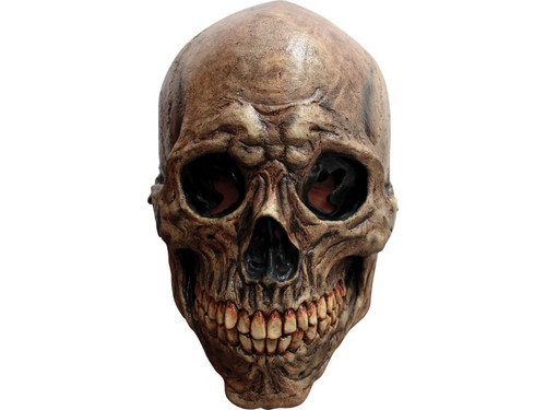 Crafted from high-quality latex, this ancient skull mask features a full head construction that is comfortable and lightweight. Mask is skillfully painted to resemble a dark, petrified skull. Fantastic mask to complete your mummy costume!