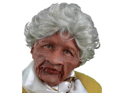 Remember the good old days in this life-like mask, perfect for an old lady costume! The mask is sculpted to resemble a cranky old woman with life-like wrinkles, permed silver hair, and a sour expression. The darker flesh tone is perfect for an African American or Hispanic character. Created from super soft, light weight latex that allows the mask to form to the face giving it life-like movement, great visibility and is comfortable to wear all night long!
