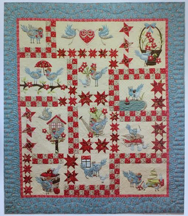 Cheri Leffler Designs A Feathered Family Quilt