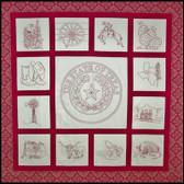 Another by Anita - Spirit of Texas Quilt - Redwork Embroidered-
