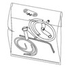String Light Kit with allen key, screws and small parts for ceiling rose assembly