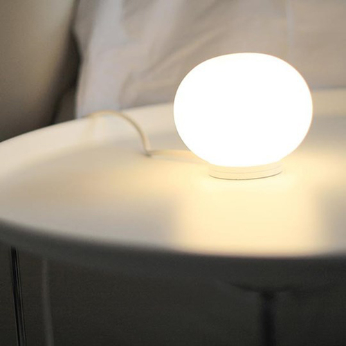 Mini Glo-Ball T Modern Glass Globe Table Lamp by Jasper Morrison