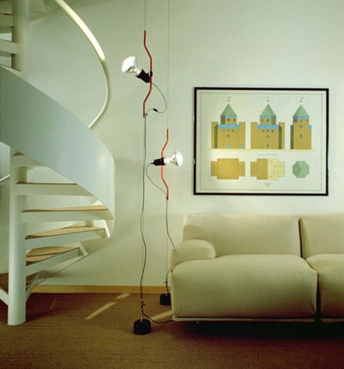 Parentesi Modern Pendant Light by Achille Castiglioni and Pio Manzu