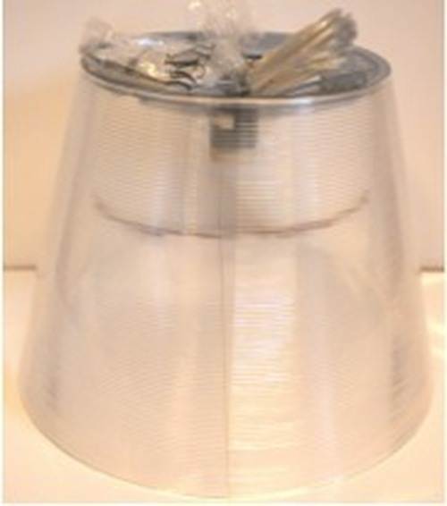 Ktribe S3 (transparent) external diffuser assembly with lampholder and electrical cable