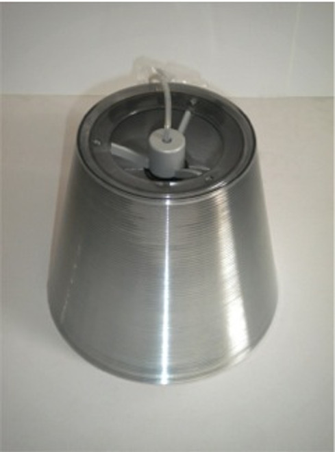 Ktribe S1 (alum. silver) external diffuser assembly with lampholder and electrical cable