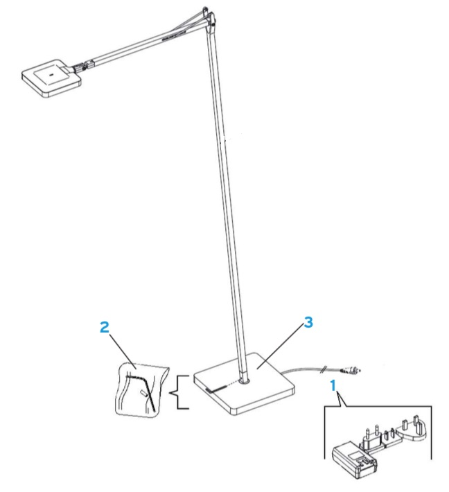 Flos Kelvin Led Floor Lamp: Spare Parts,Lighting