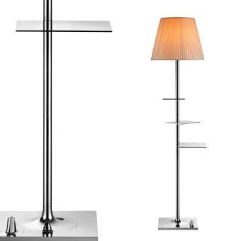 Bibliotheque nationale modern floor lamp with shelves for Halogen floor lamp with shelves