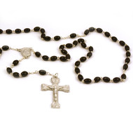 Men's Black Bead Rosary