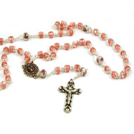 Capped Pink Rosary