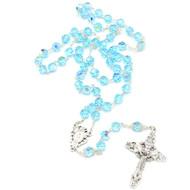 Aqua Crystal Rosary