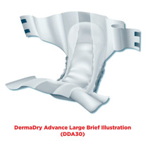 Attends Advanced DermaDry Briefs, Moderate