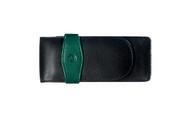 Pelikan Three Pens Green Black Leather Case