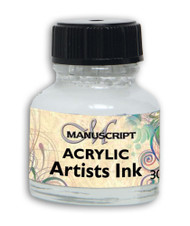 Manuscript 30ml White Artists Acrylic Ink Bottle