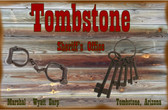 Tombstone Sheriff Old Wooden Sign 11 x 11 x 1