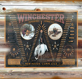Winchester Arms Old Wooden Sign 11 x 11 x 1
